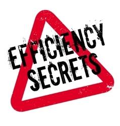 Efficiency secrets rubber stamp vector