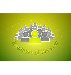 Employee of the year award vector