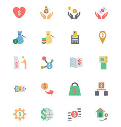 Flat Card Payment Icons 6 vector image