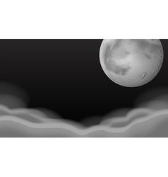 Fullmoon over the thick clouds vector