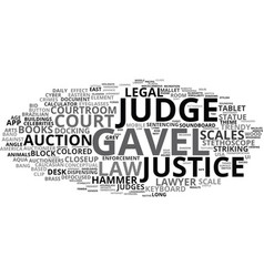 gavel word cloud concept vector image vector image