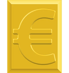 Gold euro vector