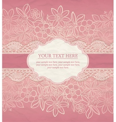 Greeting card invitation template vector image vector image