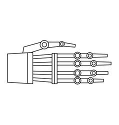 hand of robot bionic mechanical science vector image vector image