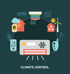 home climate control composition vector image