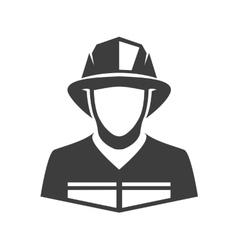 Icon fireman vector