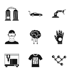 Innovation icons set simple style vector