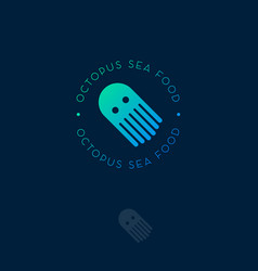 logo octopus sea food vector image