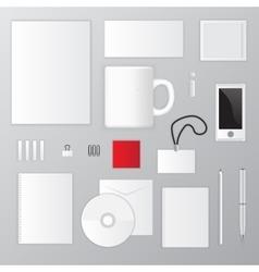 mockup design template elements vector image vector image