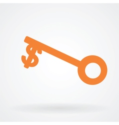 Money key symbol icon vector