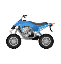 off road motorbike isolated icon in flat design vector image vector image
