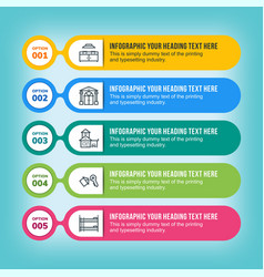 real estate infographic in multicolored lines vector image