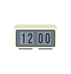 Retro digital table clock icon in flat style icon vector