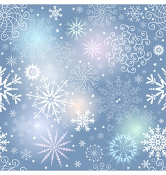 Seamless gentle colorful christmas pattern vector image vector image