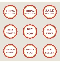Set of flat sale icons vector image vector image