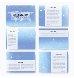 Set of templates for presentation slides vector