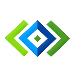 square geometry construction logo vector image