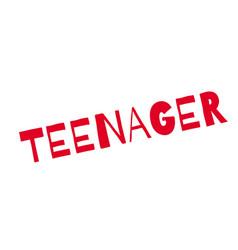 Teenager rubber stamp vector