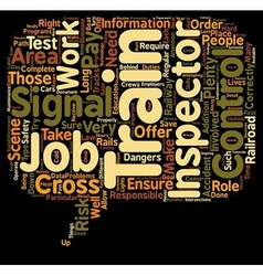 The duties of a train control and signal inspector vector