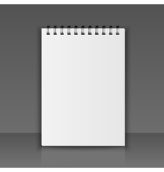 Realistic notebook vector