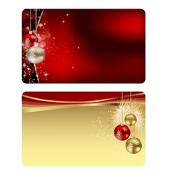 Elegant christmas card set vector