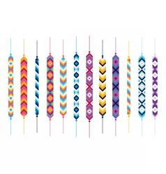 Set of friendship hippy bracelets vector