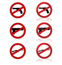 No guns allowed vector