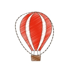 Drawing airballoon recreation vacation travel vector
