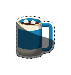 hot chocolate beverage vector image