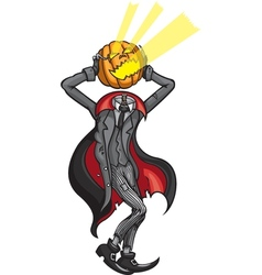 Halloween headless pumpkin jack vector