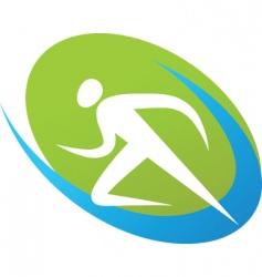 Sport silhouette series runner vector
