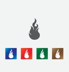 Flames icons vector
