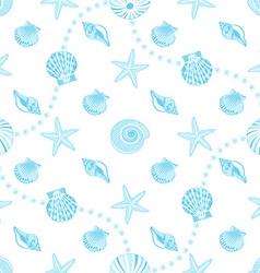 Seashells seamless pattern vector image
