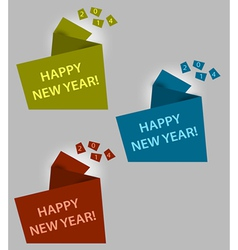Happy new year creative box vector