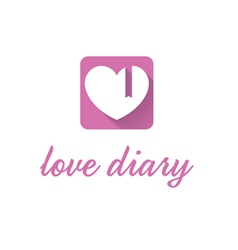 Abstract icon of pink diary vector