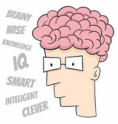 Smart guy vector