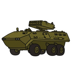 Launcher armoured vehicle vector
