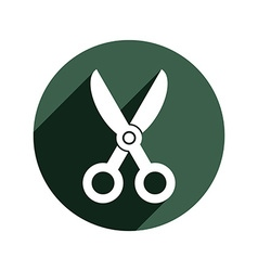 Simple scissors tailor work tool sharp instrument vector