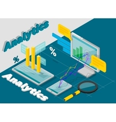 Analytics concept isometric style vector