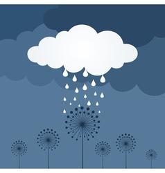 Flower a rain vector image