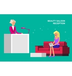 beauty saloon woman vector image