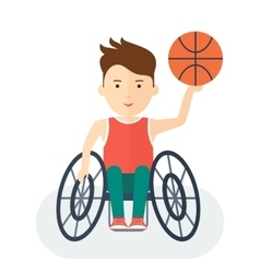 Handicapped athlete basketball vector