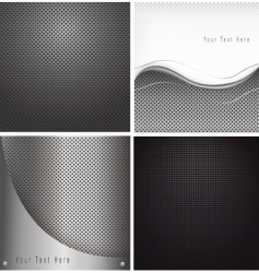 abstract metal backgrounds vector image vector image