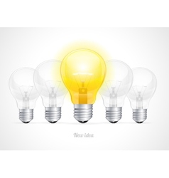 bulb icon with idea concept vector image vector image