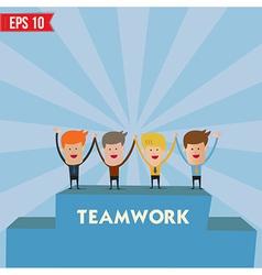 Business man teamwork spirit - - EPS10 vector image vector image