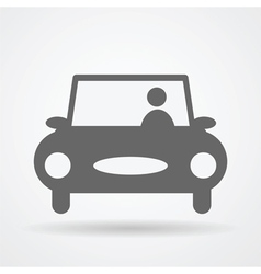 car web icon vector image vector image