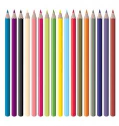 colorpencils vector image vector image