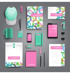 Corporate identity stationery objects vector