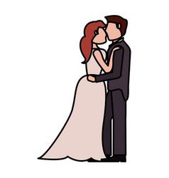 couple wedding love image vector image vector image