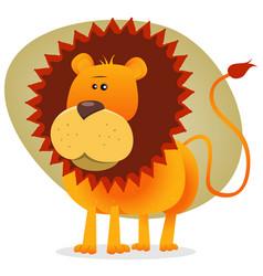 Cute cartoon lion king vector